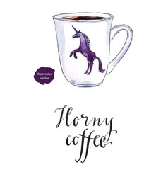 horny coffee vector image