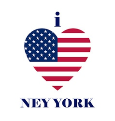 I love New york t-shirt design Heart tee templates vector image