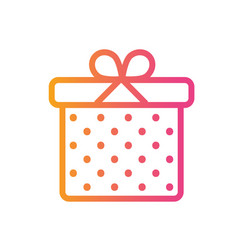 isolated colorful gradient holiday gift box icon vector image