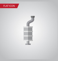 Isolated muffler flat icon silencer vector