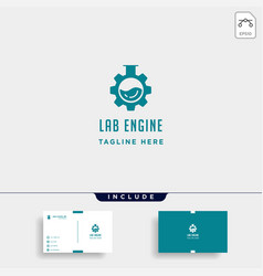 lab gear logo laboratory industry icon symbol vector image