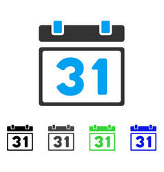 Last month day flat icon vector