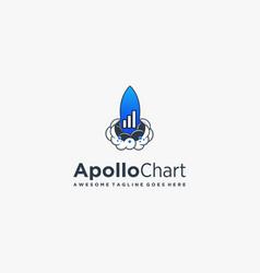 Logo apollo chart line art style vector