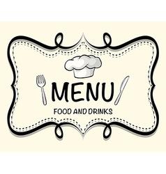 Logo design of restaurant menu vector