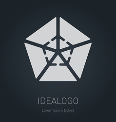 Logo with arrows logotype design element or icon vector image