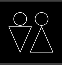 man and woman it is icon vector image