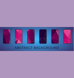 mobile abstract triangular background set vector image