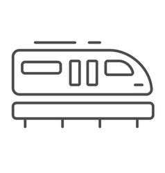 Monorail train thin line icon transportation vector