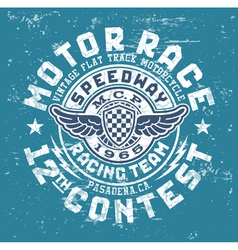 Motor race contest vector