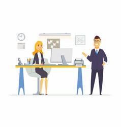 Office life - modern cartoon business vector