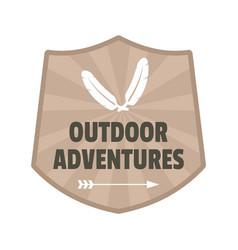 outdoor adventures logo flat style vector image