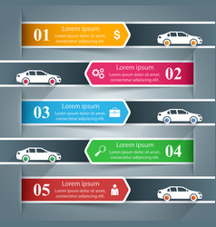 Paper business infographic car road icon vector