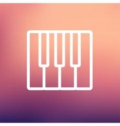 Piano keys thin line icon vector image
