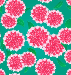 Pink Flower Seamless Pattern vector image vector image