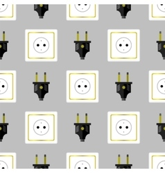 Power Plug Seamless Pattern vector
