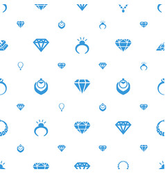 Precious icons pattern seamless white background vector