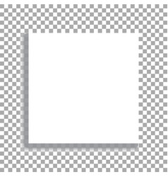 realistic square white sheet with shadows vector image
