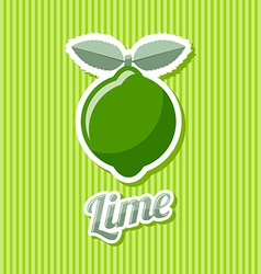 Retro lime vector