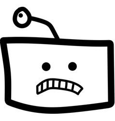 Robot head sad vector