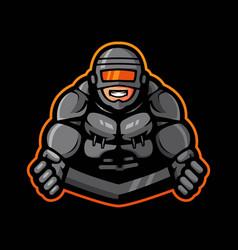 robot hero logo vector image
