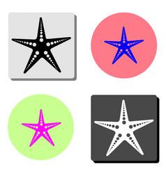 seastar flat icon vector image