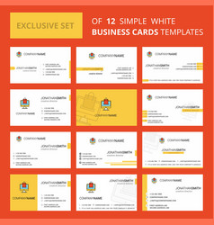 set of 12 online shopping creative busienss card vector image
