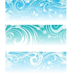 Set of banners with frosty ornament vector image