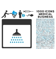 Shower Calendar Page Icon With 1000 Medical vector