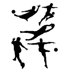 soccer player silhouette 01 vector image