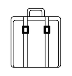suitcase bag isolated icon vector image