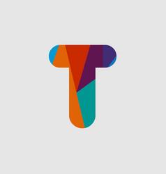 T diamond font template design vector