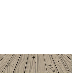 table of wood vector image