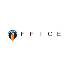 tie office business logo vector image