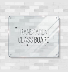 Transparent glass board decorative graphic vector