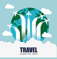Travel around world infographics vector