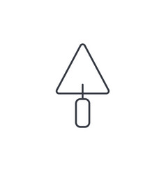Trowel tool thin line icon linear symbol vector