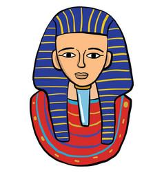 tutankhamun on white background vector image