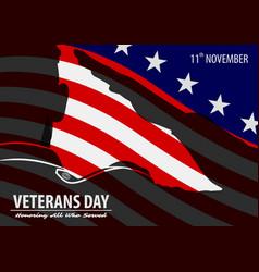 Veterans day poster template vector