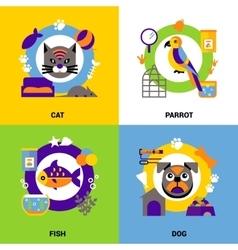 Veterinary Design Concept Set vector image