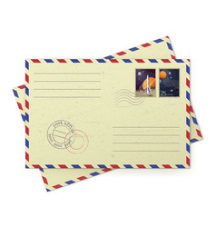 vintage airmail envelopes vector image