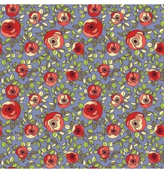 Vintage multicolor roses seamless pattern vector