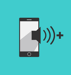 Volume up mobile phone icon vector