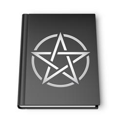 black book with pentagram vector image vector image