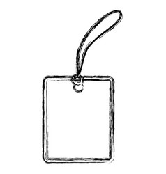 blank shopping label tag vector image