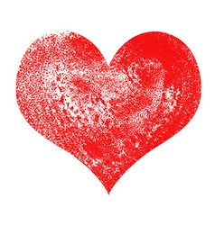 Heart painted and textured vector image vector image