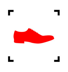 men shoes sign red icon inside black vector image