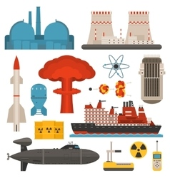 Nuclear energy vector image