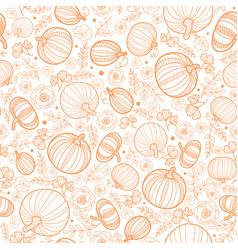 orange falling pumpkins seamless repeat vector image vector image