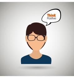 people thinking design vector image