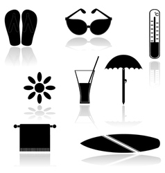 Set of icons EPS10 vector image vector image